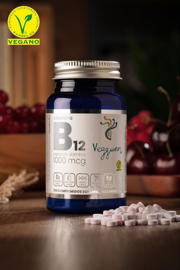 Comprimés sublinguaux de vitamine B12 FLASH Veggunn - Tablettes végétales PHOTO