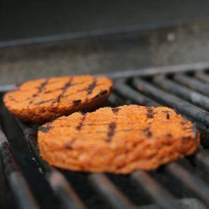 seitan con forma de hamburguesa